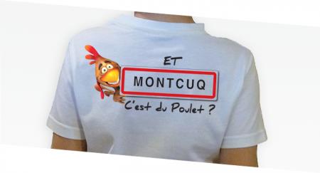 ---></a>   T-shirt Enfant Et montcuq c'est du poulet